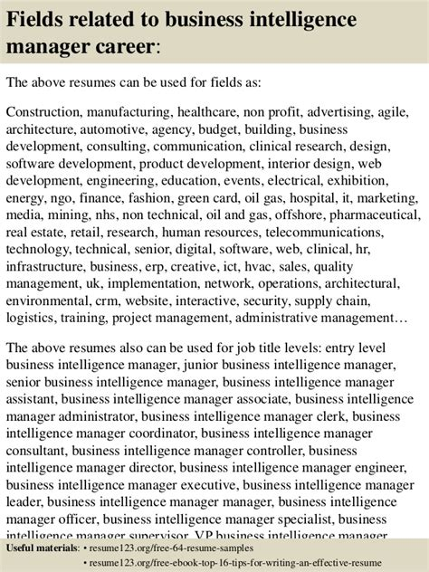 Business Intelligence Project Manager Resume by Top 8 Business Intelligence Manager Resume Sles