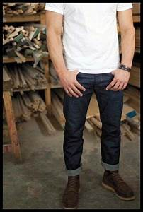 White Tee Raw Denim Jeans Red Wing Boots | Red Wing Lookbook | Pinterest | Red wing boots ...