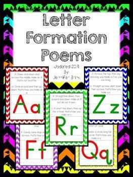letter formation poems  jennifer brink teachers pay