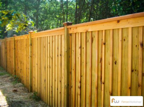 wood fence styles the king board and batten wood privacy fence pictures per foot pricing backyard ideas