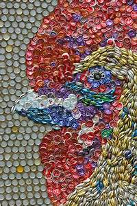 Cool soda can art metal works pinterest soda can art for What kind of paint to use on kitchen cabinets for how to make bottle cap wall art