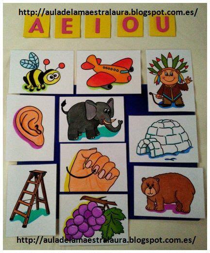 aula de la maestra palabras que empiezan por vocales los animales palabras