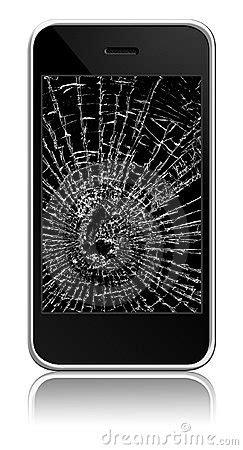 broken cellphone stock photography image