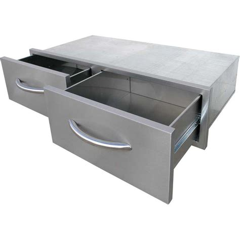 stainless steel kitchen island with drawers cal 39 25 in wide outdoor kitchen stainless steel 2 9401