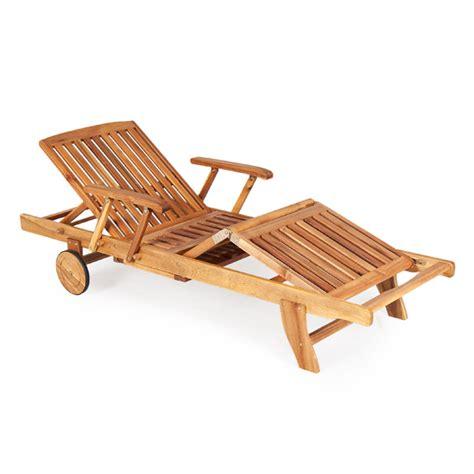 outdoor garden furniture fsc wooden acacia adjustable sun
