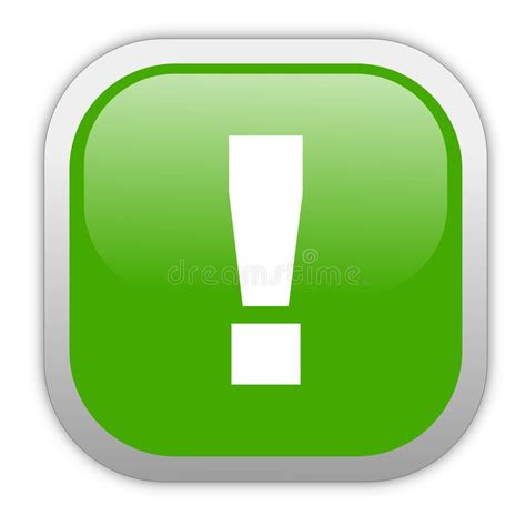 green exclamation mark stock illustration illustration  exclamation