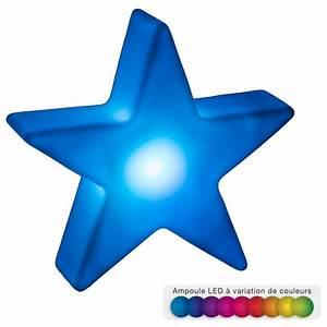 Deco Multicolore : etoile d co lumineuse led 11cm multicolore ~ Nature-et-papiers.com Idées de Décoration