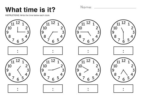 telling time worksheets kindergarten time