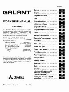 Mitsibushi Galant 96 02 Workshop Manual