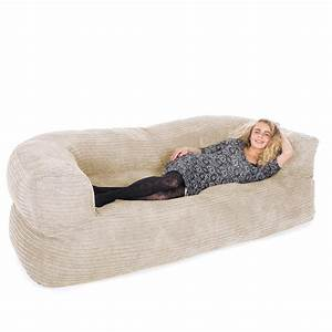 Corduroy couch bean bag for Corduroy bean bag couch