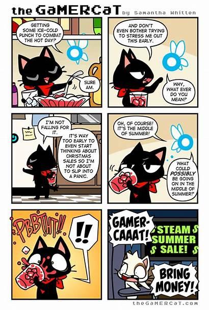 Cat Comics Gamer Funny Gamercat Comic Strips