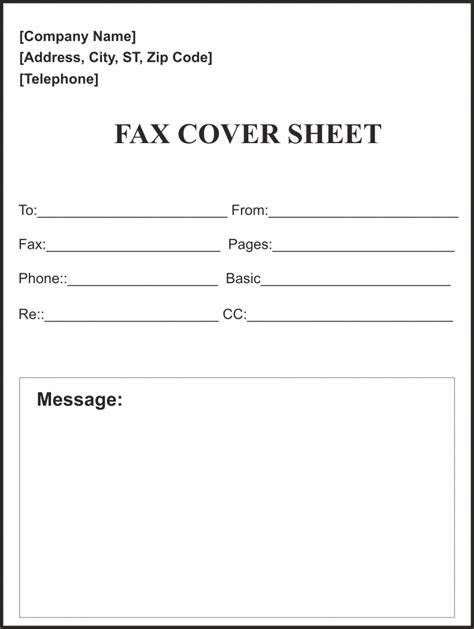 fax cover sheet template  word google docs faq