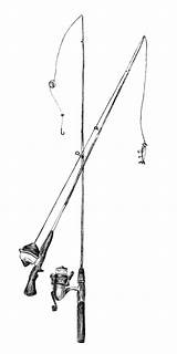 Fishing Pole Coloring Pages Poles Template Rod Flag Print Sketch sketch template