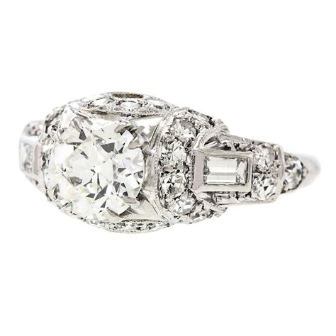 1920s deco engagement rings 1920s deco platinum engagement ring for sale at 1stdibs