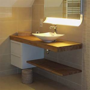 nice plan de travail en teck pour salle de bain 1 With plan de travail meuble salle de bain