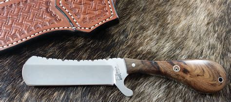 knives castration cowboy castrating custom castrators handmade pinecone dyed nsc handle