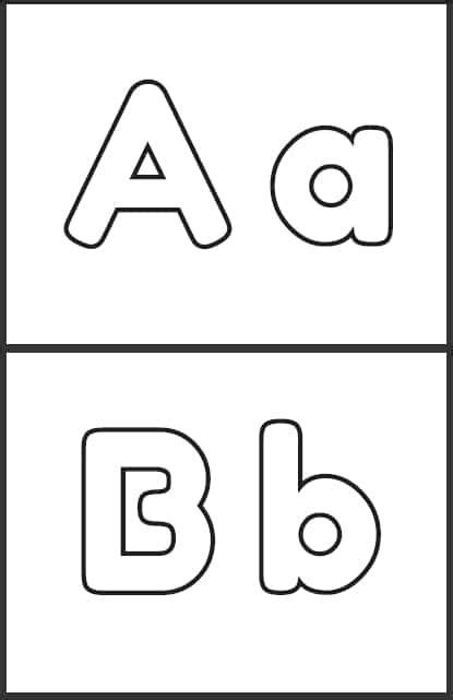 letras abecedario para imprimir grandes y letra por letra