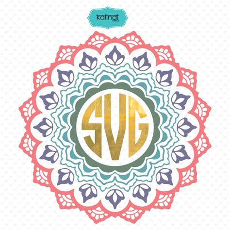 mandala monogram svg illustrations creative market