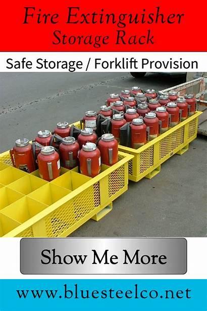 Extinguisher Fire Safe Industrial Forklift Rack Warehouse