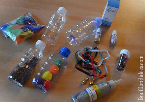 le bruit dans la cuisine fabriquer des bouteilles sensorielles pour bébé diy