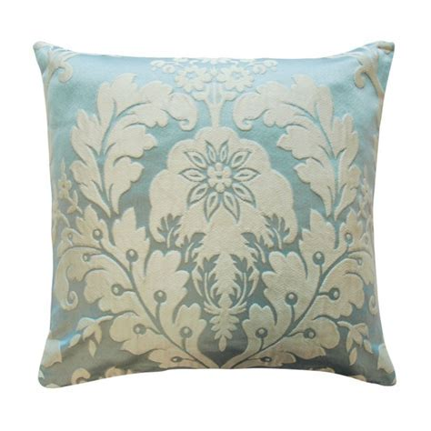 Charleston Duck Egg cushion cover Tonys Textiles