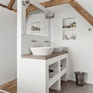 amenager une salle de bains selon sa taille marie claire With porte d entrée alu avec meuble de salle de bain 70 cm de large