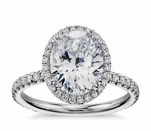blue nile studio oval cut heiress halo diamond engagement With oval halo wedding rings