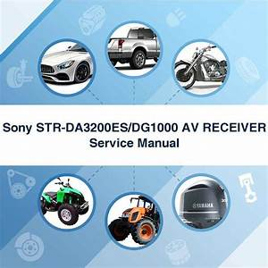 Sony Str Dg1000 Av Receiver Service Manual
