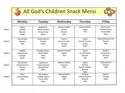 child care menu template childcare lunch menu search meals for the day care childcare lunch