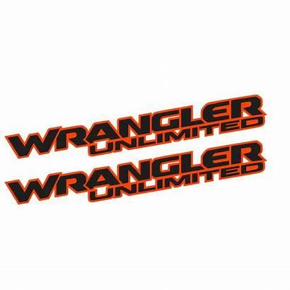 Wrangler Unlimited Jl Decal Fender Orange Hood