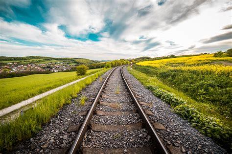 Railway Road 4k 5k Wallpaper  Hd Wallpaper Background