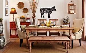 La deco campagne chic s39invite dans la salle a manger for Deco cuisine avec salle a manger merisier