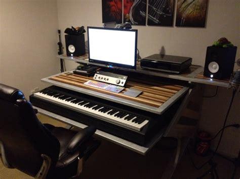 bureau home studio custom editing desk studio handmade a v audio