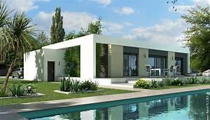 Plan Maison Contemporaine Toit Plat : plan maison toit plat jade maison contemporaine maisons clair logis ~ Nature-et-papiers.com Idées de Décoration