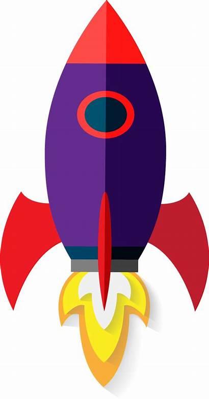 Rocket Clipart Transparent Clip Webstockreview Purple Flat