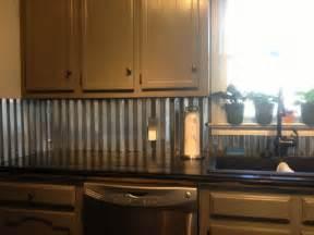 metallic kitchen backsplash corrugated metal backsplash kitchen counter tops corrugated metal metals and