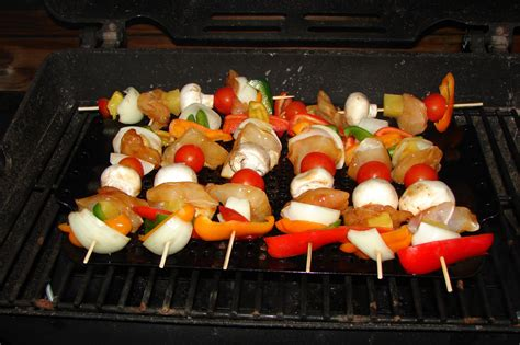 grouper cheeky kabobs peppers mushrooms cheeks skewered chunks pineapple tomatoes grill cherry bell join