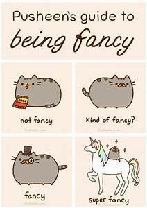 Pusheen's guide to being fancy.