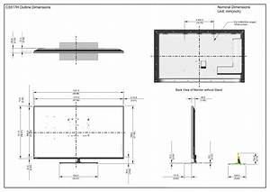 Dell C5517h Monitor Outline Drawing User Manual Reference