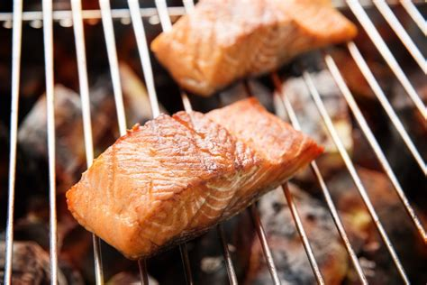 grilling salmon grilled salmon steaks with lime butter recipe epicurious com