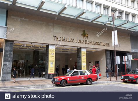The Marco Polo Hotel Hong Kong With Red Taxi Red Taxi