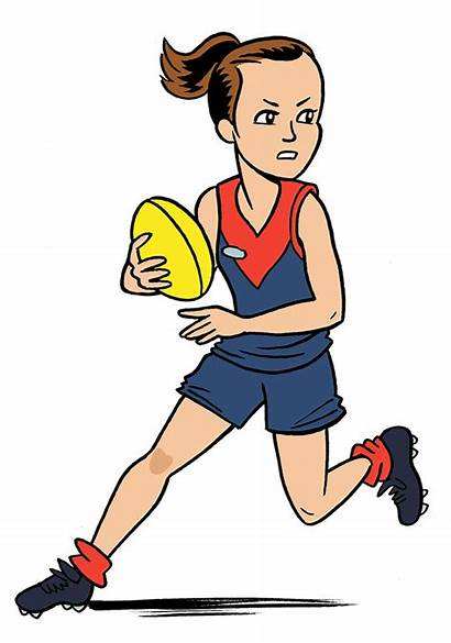 Afl Clipart Footy Football Player Guide Fairest