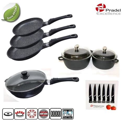 batterie de cuisine pradel pradel excellence batterie de cuisine 15 piéces achat