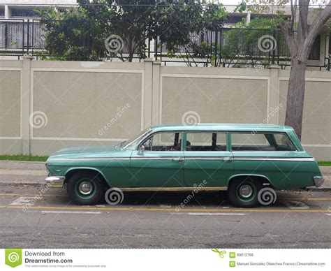dark green station wagon chevrolet impala station wagon editorial image