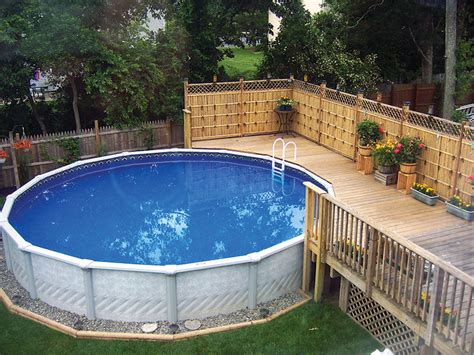 backyard ideas with above ground pool outdoor furniture