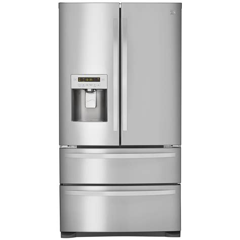 stainless steel door refrigerator kenmore 72493 26 7 cu ft 4 door door refrigerator