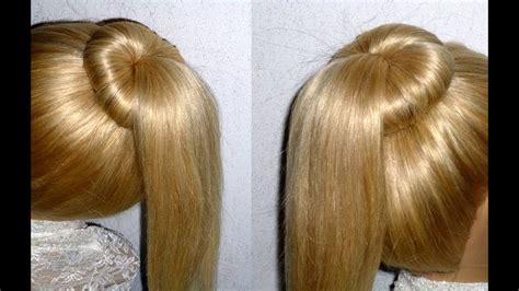 haar dutt machen easy frisuren dutt mit duttkissen machen f 252 r mittel langes haar ponytail hairstyle peinados