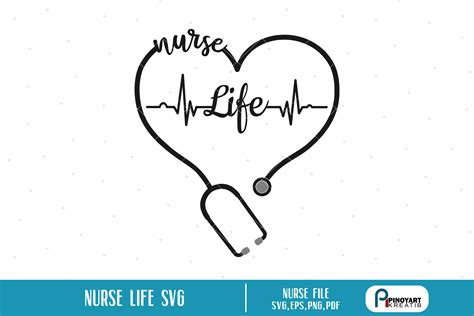 Weekly free svg cut file diy craft inspirations & videos 👇🏼✨click this link for more✨👇🏼 smart.bio/freesvgcaluyadesign. Nurse svg, Nurse Life svg, Nursing svg, Heartbeat svg, svg ...