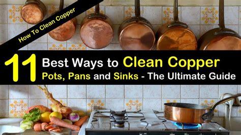 ways  clean copper pots