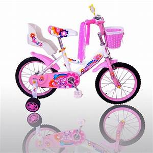 16 U0026quot  Children Girls Kids Bike Bicycle With Training Wheels Steel Frame